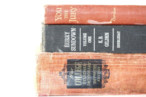 Shabby Chic Book Collection 3 Interior Design Photography Prop Home Decor Soft Red Black