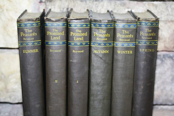The Peasants 6 Volume Set Rare Reymont Spring Alfred A Knopt