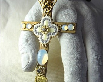 Cross- Vintage- Assemblage-One of a Kind-Wearable Art by Pauletta Brooks