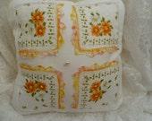 Handmade Vintage Handkerchief Pillow