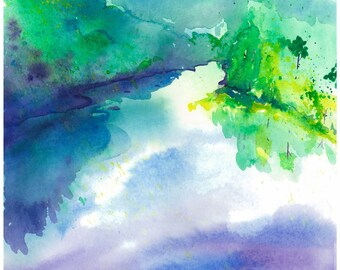 """Mountain Above, Water Below-11""""x14"""" Archival Art Print by Patricia Robin Woodruff"""