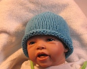 The Jamie Infant Rolled Brim Hat 100% Cotton Hand Knitted