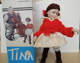 Porcelain Norman Rockwell Character Doll, Tina