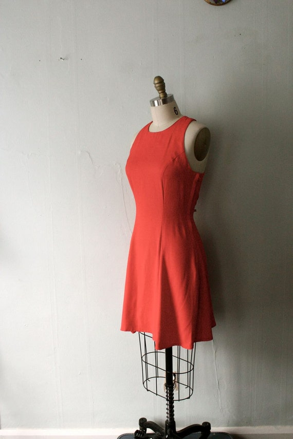 vintage Coral Bell summer dress with racerback ( M )