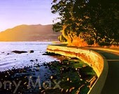 Seawall Sunset - Stanley Park, English Bay, West Vancouver, Burrard Inlet, Vancouver, Pacific Ocean, North Shore Mountains