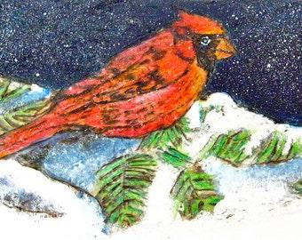 A Cardinal's Winter's Eve