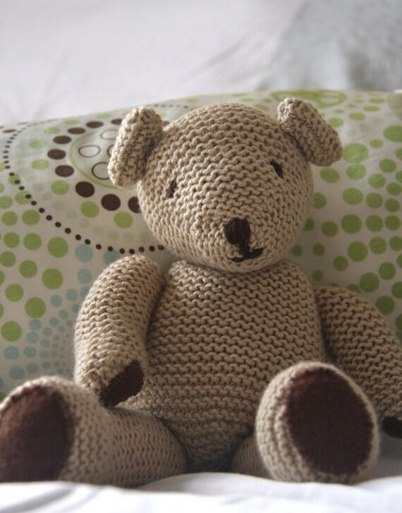 Cuddly Cashmere Teddy Bear - handknitted from cashmerino wool