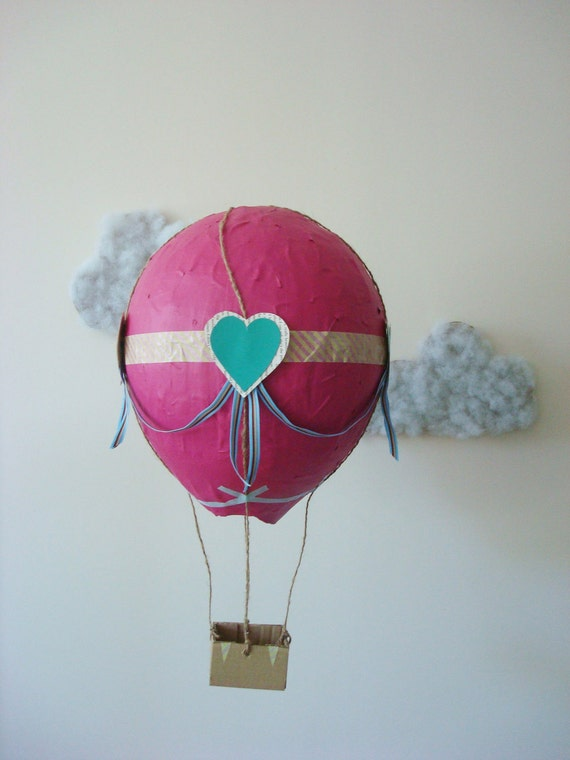 paper mache hot air balloon. Black Bedroom Furniture Sets. Home Design Ideas