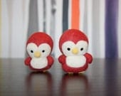 2012 Pantone Color of the Year Needle Felted Penguin - Limited quantity