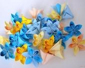 Kusudama Paper Flowers Set of 35 Origami Blooms