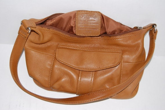 90's designer Fossil summer leather  purse Organizer handbag in a light brown   Shipping from Colorado USA