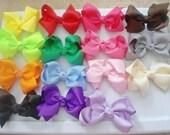 1.00 2 inch Hair Bows with Bonus Headband, LOT of 10 Pinwheel Hair Bows,  Baby/Toddler/Girl Bows Choose Colors GREAT First Bow Set