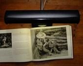 Vintage Keystone Black with Chrome Adustable Gooseneck Fluorescent Desk Lamp from the 70's
