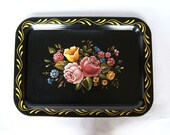 Vintage hand-Painted Serving/Decorative Tray