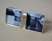 square photo cufflinks - wedding day keepsake gift