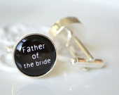 Father of the bride cufflinks,  timeless mens jewelry keepsake gift, classic cuff link accessories
