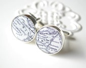Vintage ITALY Sicily Map Cufflinks - Keepsake gift for wedding day, birthday or fathers day