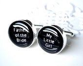 Father of the bride my little girl cufflinks - a special gift for your father on your wedding day
