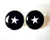 Star Cufflinks, timeless mens jewelry keepsake gift, classic cuff link accessories