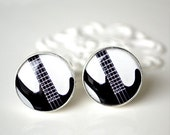 Bass Guitar Cufflinks - keepsake for the groom groomsmemn or husband for your wedding day or birthday