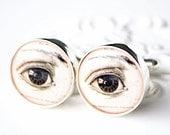Human eye cufflinks by White Truffle style 002