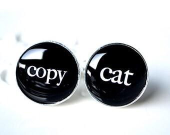 Copy Cat cufflinks - humor keepsake gift for him the man