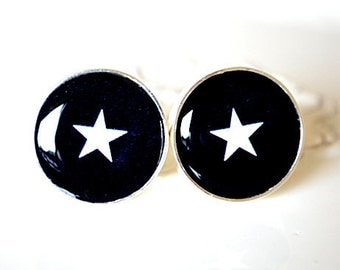 Star Cufflinks, timeless mens jewelry keepsake gift, classic cuff link accessories