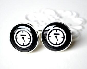 Speedometer cufflinks, timeless mens jewelry keepsake gift, classic cuff link accessories