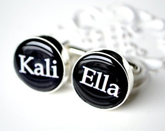 Custom name cufflinks, timeless mens jewelry keepsake gift, classic cuff link accessories