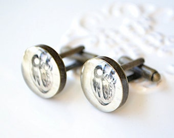 Anatomy Vintage Heart  Cufflinks - antique brass keepsake inspired by vintage prints - gifts for men