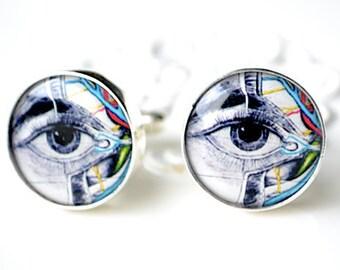 Eye anatomy cufflinks by White Truffle