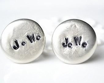 Initial Pebble Cufflinks by White Truffle - custom jewelry cufflinks