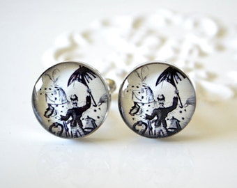 Vintage Circus Cufflinks - The Ring Leader - Keepsake gift - Halloween Wedding day cuff links for the groom and groomsmen