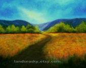 8x10 Fine Art Print - Golden Way - Landscape from original oil painting