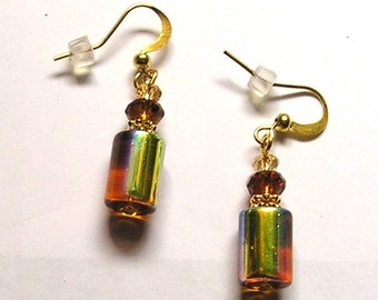 Yellow Earrings 14kt Gold-filled Earwires with Swarovski Crystals