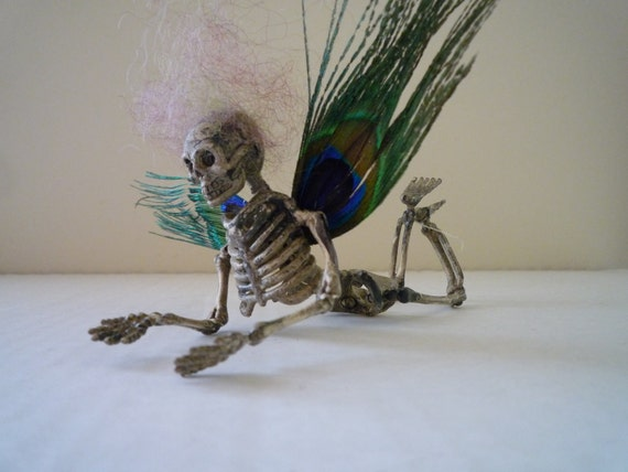 Christmas, Christmas ornament, Halloween, decoration, skull, skeleton, goth, dark, faerie, holiday, doll, fairy