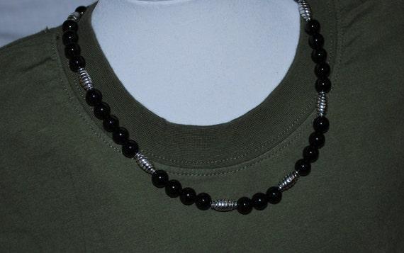 Mens Necklace, Men's Necklace, Black Onyx Necklace, Gemstone Necklace, Unisex Necklace