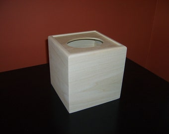 Unfinished Wooden Tissue Box Cover-Kleenex Cube-unfinished wood box-ready to finish-engravable wood box-personalized laser engraving