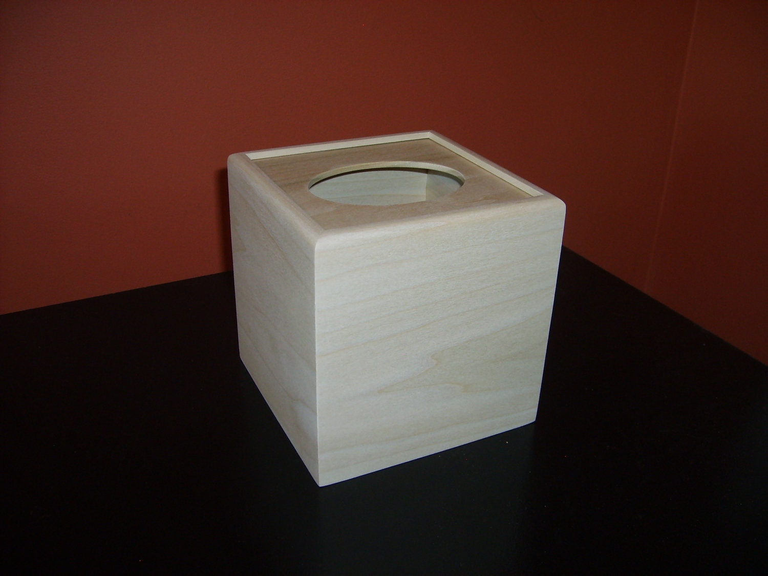 Unfinished Wooden Tissue Box Cover Kleenex Cube Unfinished