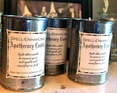 """Halloween Witch Candle """"Spell Enhancing"""" Apothecary Spiced Vanilla Pumpkin Soy Decoration Vintage Antique"""
