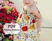 PDF Easy Halter Dress & Top Sewing Pattern Dress Sizes 3m-5T and Girls Top Sizes 5-11 INSTANT DOWNLOAD