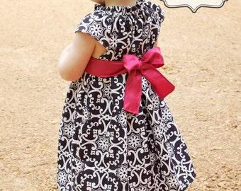 PDF Flutter Top & Dress Sewing Pattern Sizes 3m - girls 9/10