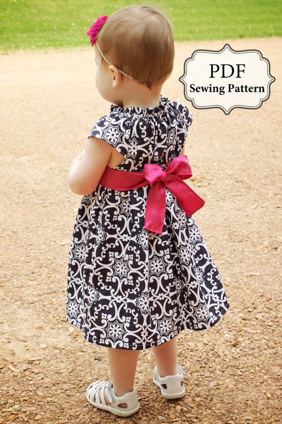 PDF Flutter Top & Dress Sewing Pattern Sizes 3m - girls 9/10