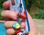 Cute Hand Made Little Mermaid ( Ariel ) Cell Phone Charm or keychain