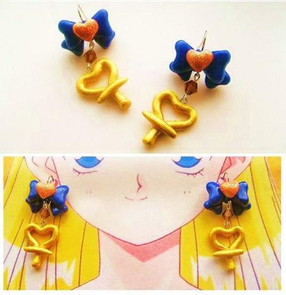 Handmade sailor Venus Inspired  Earrings