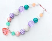 Beaded Necklace Women Girls Toddler Tween Chunky Bubblegum Jewelry Spring Time