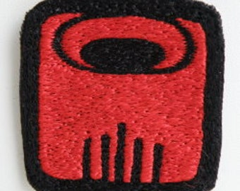 Mayan 13 moon Symbol Red dragon / imix - Hand made embroidery patch