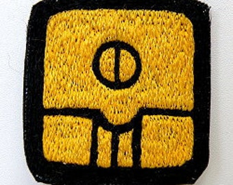 Mayan 13 moon Symbol Yellow Seed / KAN  - Hand made embroidery patch