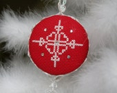 DIY Kit - Snowflake Cross Stitch Pattern