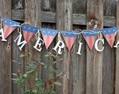 AMERICA Banner with Patriotic Theme
